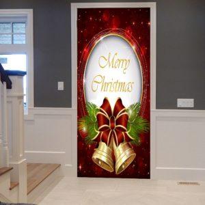 Christmas Bells Pattern Door Cover Stickers ab 18.54 (31.51) Euro im Angebot