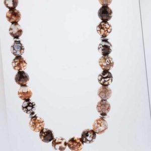 new Collier aus Achat und Hämatit ab 99.98 (99.98) Euro im Angebot