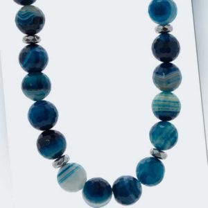 new Collier aus Blue Wave Achat ab 99.98 (99.98) Euro im Angebot