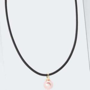 new Collier aus Leder mit MK-Perle 16 mm ab 119.99 (119.99) Euro im Angebot