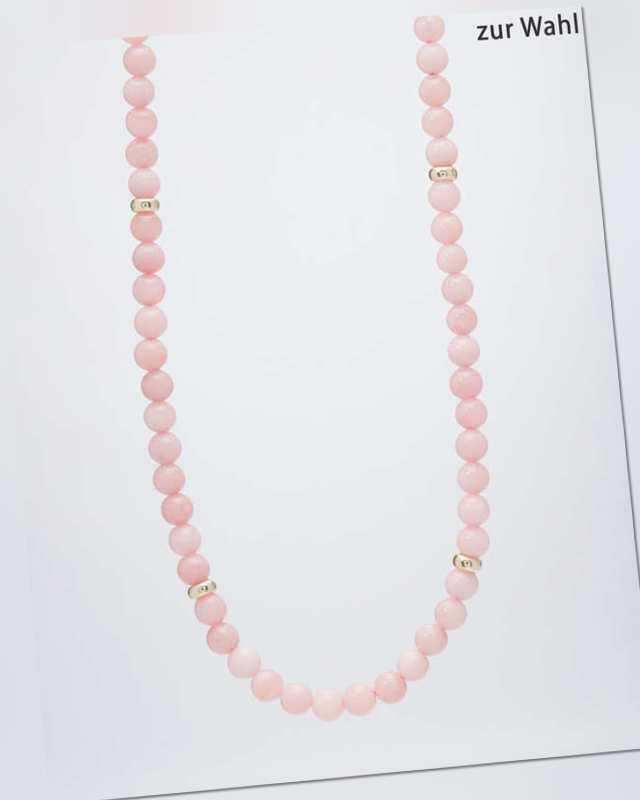 neu Collier mit Pink Opal
