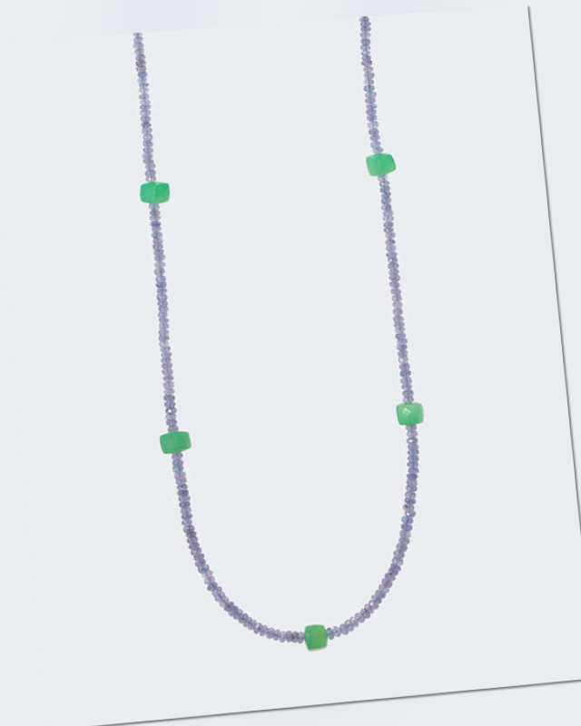 new Collier mit Tansanit beh. & Chrysopras ab 269.00 (299.00) Euro im Angebot