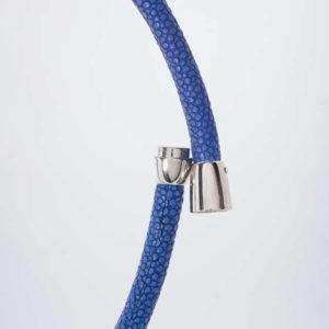 new Kunstleder-Collier mit Kristall-Gleiter ab 58.95 (58.95) Euro im Angebot