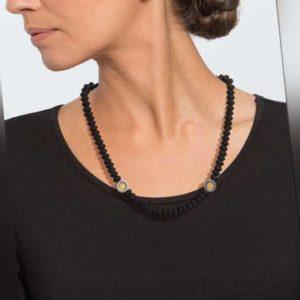 new Onyx-Collier mit Hämatit und Silber ab 59.99 (89.99) Euro im Angebot