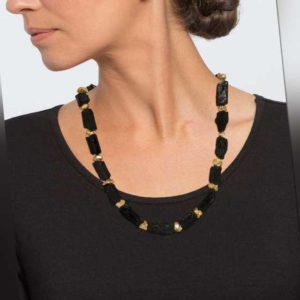 new Turmalin-Pyrit-Collier ab 249.00 (249.00) Euro im Angebot