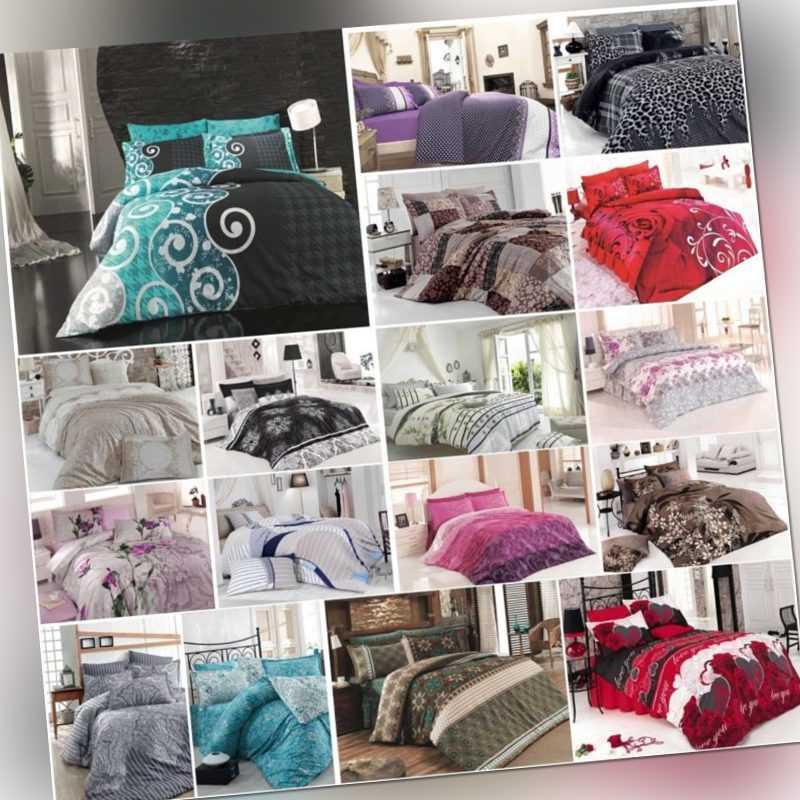 4 Tlg Bettwäsche Bettgarnitur Bettbezug 100 Baumwolle Kissen