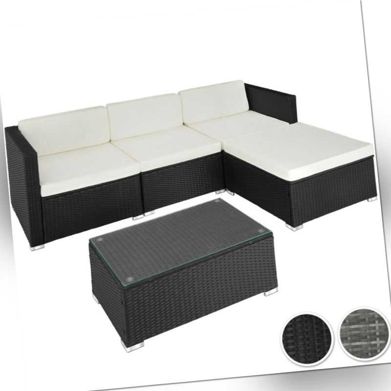 polyrattan gartenm bel sitzgruppe rattan garnitur gartenset lounge sofa tisch. Black Bedroom Furniture Sets. Home Design Ideas