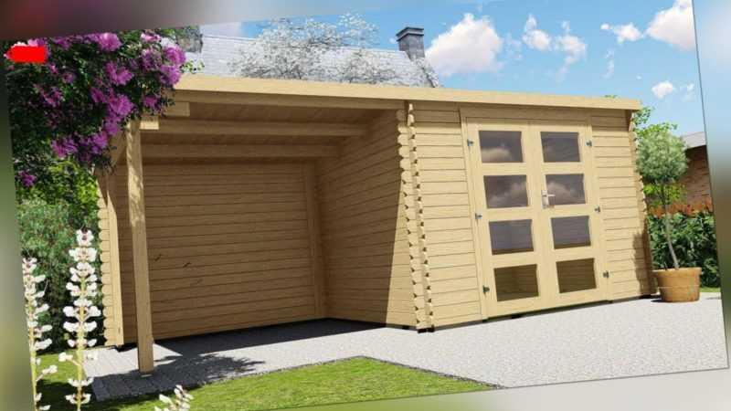 Gartenhaus Flachdach 28mm Geratehaus Holz Anbau 3x2 4 2 4m Harz