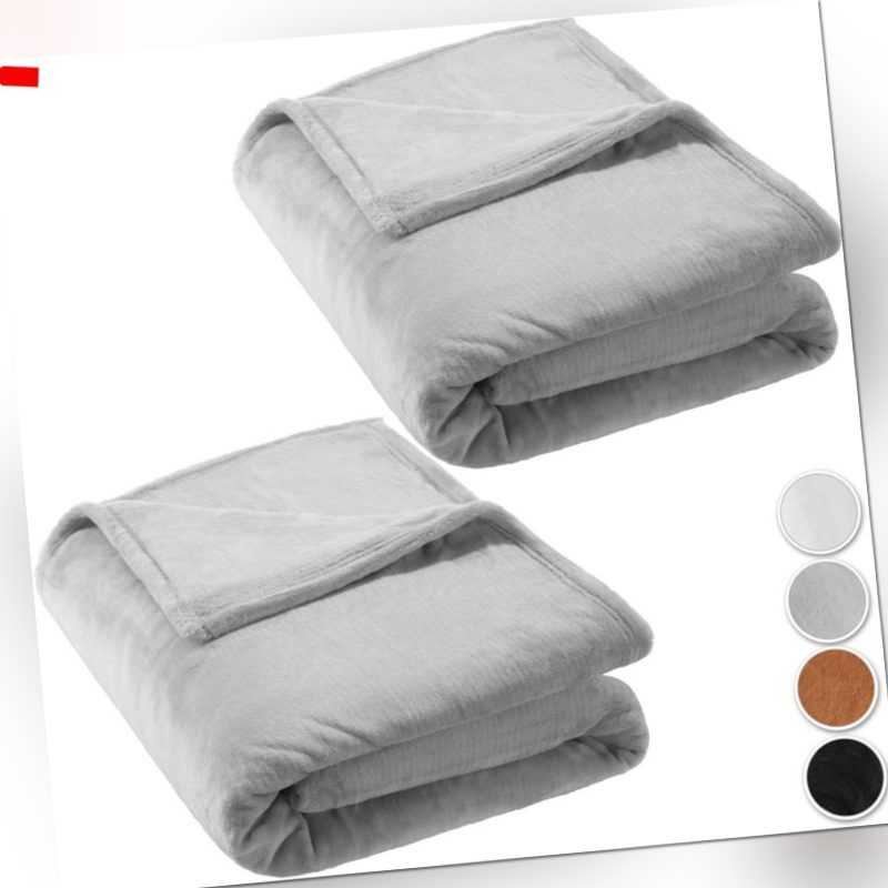 2x Tagesdecke Bettüberwurf Kuscheldecke Schlafdecke
