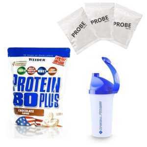 33,98€/kg Weider Protein 80 Plus 500g Beutel + BONUS Shaker und 3 Proben