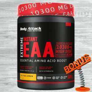 Body Attack Extreme Instant EAA Pulver 500g Dose 47,80 €/kg BCAA Aminos + Bonus