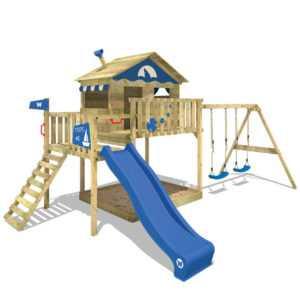 WICKEY Spielturm Klettergerüst Smart Coast Garten Kinder Schaukel Sandkasten