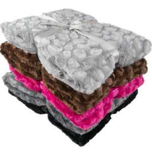 Nerzfelloptik-Kuscheldecke 200x150cm Wohndecke Tagesdecke Sofadecke Bettüberwurf