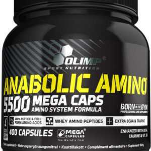 Olimp Anabolic Amino 5500 Mega Caps 400 Kapseln Aminosäuren+ Gratis Probe