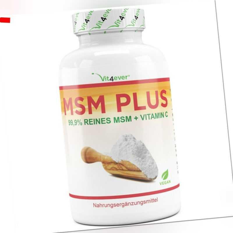 MSM 400 Tabletten á 1000mg + Acerola Vitamin C 99,9% Methylsulfonylmethan Vegan