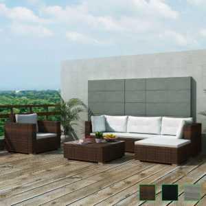 17-tlg. Poly Rattan Gartensofa Set Lounge Gartenmöbel Gartengarnitur Sitzgruppe