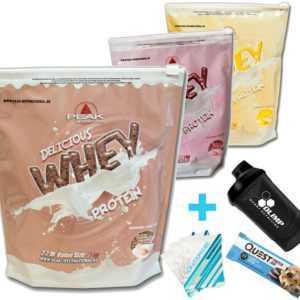 Peak Delicious Whey Protein 1000 g Beutel Eiweiß Isolat Aminosäuren BCAA + Bonus