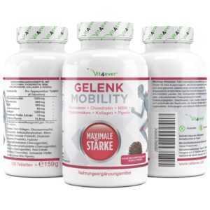 Gelenk Mobility 120 Tabs. Glucosamin Chondroitin MSM Hyaluronsäure Gelenkschutz