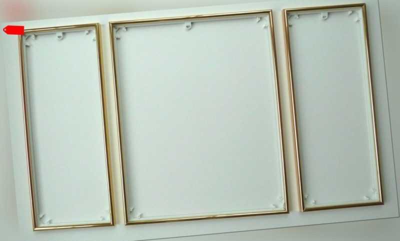 Bilderrahmen Triptychon für z.B. Schipper Malen nach Zahlen Bilder