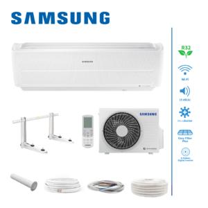 Samsung Wind-Free Standard AR12NXWXCWKNEU/X R32 3,5kW Klimaanlage + Montageset; EEK G