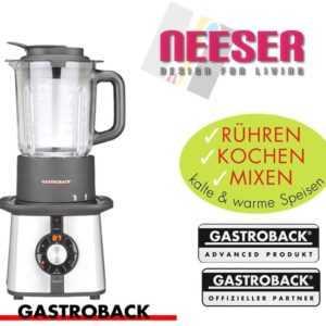 GASTROBACK 41020 Cook & Mix Plus, Standmixer, 600 Watt Baby Food Soup smootie