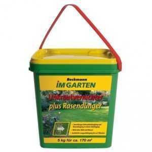 2 x 5 kg Beckmann UV Rasendünger mit Unkrautvernichter reicht für 340 m² Rasen