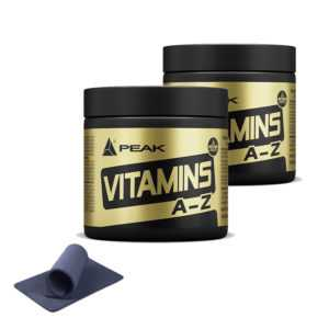 57,65€/kg++Peak Vitamin A-Z (2 Dosen à 180 Tabletten) + Griffpolster ++