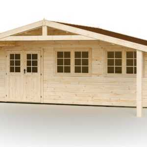 44 mm Gartenhaus 600x500 cm + Fußboden Gerätehaus Holzhaus Holzschuppen Holz