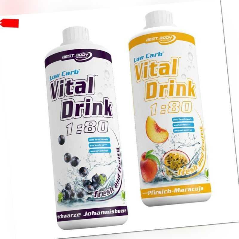 10,00€ /Ltr. Best Body Nutrition Low Carb Vital Drink  2 x 1 Ltr. Mineraldrink