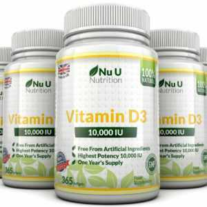 Vitamin D3 10000iu 5 X 365 Softgel Super Stark 100% Back Garantie Nu U