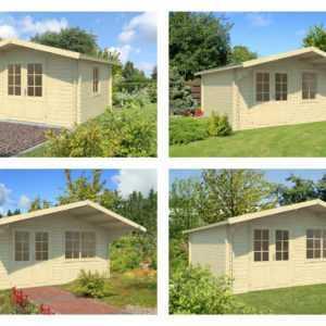 40 mm Gartenhaus Holzhaus Blockhaus Gerätehaus Schuppen Holz Haus Holzhütte NEU