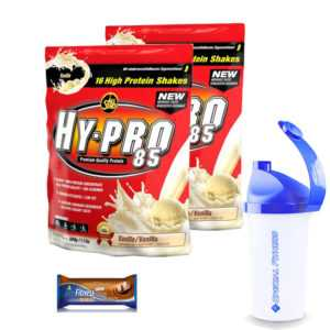 ALL STARS HY-PRO 85 Protein,  2 x 500g Beutel  + Shaker  +  Riegel!