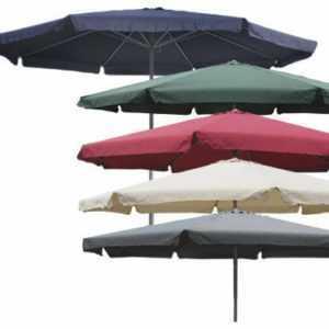 Sonnenschirm Ø 4m mit Kurbel und Krempe Schirm Gartenschirm 7 Farben verfügbar