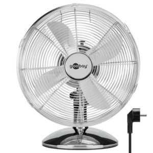Retro Tischventilator Chrom Ventilator Lüfter Standventilator Luftkühler Kühler
