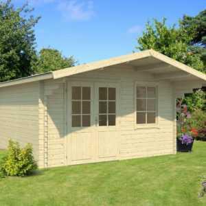 40 mm Gartenhaus 410x410 cm Gerätehaus Blockhaus Schuppen Holzhaus Holz Neu