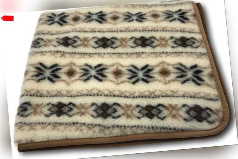 Wolldecke Wohndecke Plaid 100/% Schurwolle Decke 130x180 cm Tirol Blau-Grau