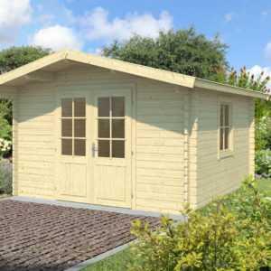 40 mm Gartenhaus 350x350 cm Gerätehaus Blockhaus Schuppen Holzhaus Holz Neu