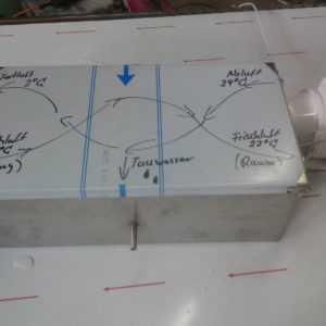 Lüftungsgerät 36Watt 160m³ bis95% Silent Wärmerückgewinnung KWL WRG Lüftung