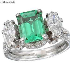 Ring Diamanten ca. 2,00 Carat  Korund Weißgold Zertifikat