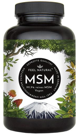 MSM Kapseln  365 Vegane Kapseln Laborgeprüft 1600mg Methylsulfonylmethan Pulver