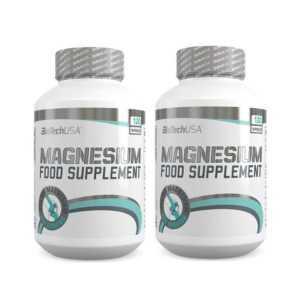 Magnesium 2x120 Caps BioTech USA  Mineralien Vitamine Muskeln Gesundheit + BONUS