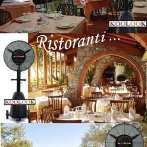 Standventilator mit Vernebler Restaurants Professional Lieferung drei vier Tage