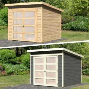 Gartenhaus Gerätehaus Schuppen Geräteschuppen Holz HORI Herning 19 mm 242 x 246