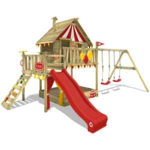 WICKEY Spielturm Klettergerüst Smart Trip Baumhaus Rutsche Schaukel Sandkasten