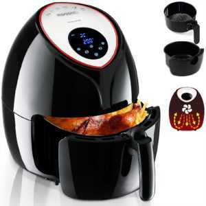 Monzana® Heißluftfritteuse 6,5 L 9in1 Touch-Display Gratis Rezeptheft max.1850W