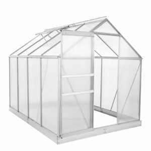 ZELSIUS Premium Aluminium Gewächshaus 6 mm Verglasung 4,75m² mit Stahlfundament