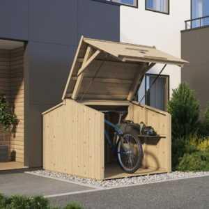 Fahrradbox Fahrradcarport Fahrradgarage Fahrradhaus BikeBox 202x152cm Elementbau