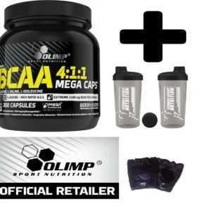 OLIMP BCAA 1100 mg 300 MEGA CAPS AMINOSÄUREN BCAAs KAPSELN + BONUS