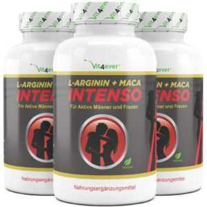 240 - 720 Kapseln (vegan) L-Arginin Maca Intenso Potenz Sex Booster Vit4ever