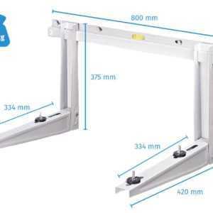 Wandkonsole Halterung für Split Klimaanlage Klimagerät 140 kg